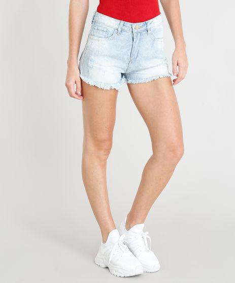 Short-Jeans-Feminino-Sawary-com-Rasgos-Curto-Azul-Claro-9417620-Azul_Claro_1