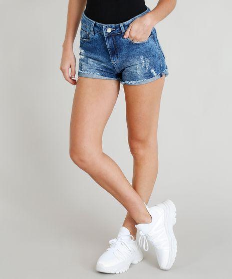 Short-Jeans-Feminino-Sawary-com-Puidos-Curto-Azul-Escuro-9417622-Azul_Escuro_1