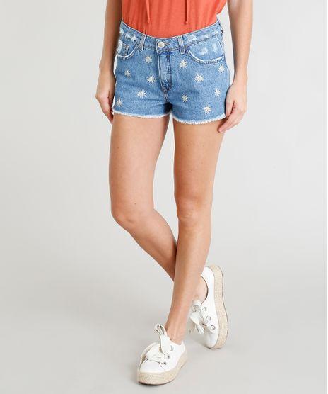 Short-Jeans-Feminino-Boy-Bordado-de-Margaridas-Azul-Medio-9365629-Azul_Medio_1