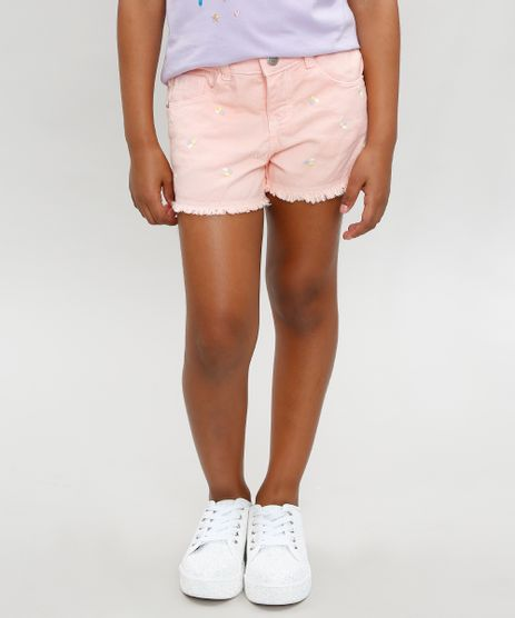 Short-Color-Infantil-com-Bordado-e-Barra-Dobrada-Coral-9320869-Coral_1