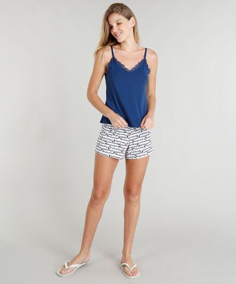 Short-Doll-Feminino-com-Estampa-de-Cachorrinhos-Azul-Marinho-9264333-Azul_Marinho_1