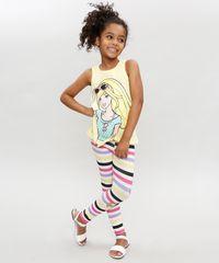Regata-Infantil-Barbie-com-No-Decote-Redondo-Amarela-9327706-Amarelo_3