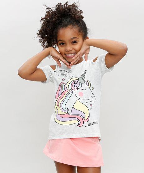 Blusa-Infantil-Open-Shoulder-Unicornio-Manga-Curta-Decote-Redondo-Cinza-Mescla-Escuro-9384177-Cinza_Mescla_Escuro_1