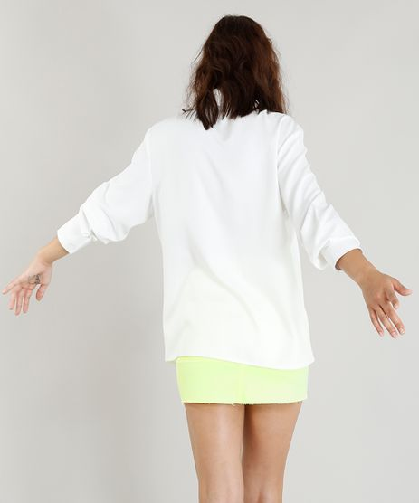 Camisa-Feminina-Basica-Branca-Manga-Longa--Off-White cd74cc519f971