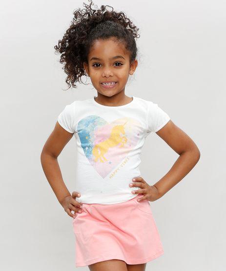 Blusa-Infantil-Unicornio--Happy-Vibes--Manga-Curta-Decote-Redondo-Branca-9324164-Branco_1