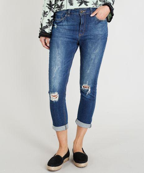 Calca-Jeans-Girlfriend-com-Rasgos-Azul-Escuro-9346388-Azul_Escuro_1
