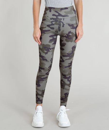 0f86c6b2b Menor preço em Calça Legging Feminina Esportiva Ace Estampada Camuflada com  Proteção UV50+ Verde Militar