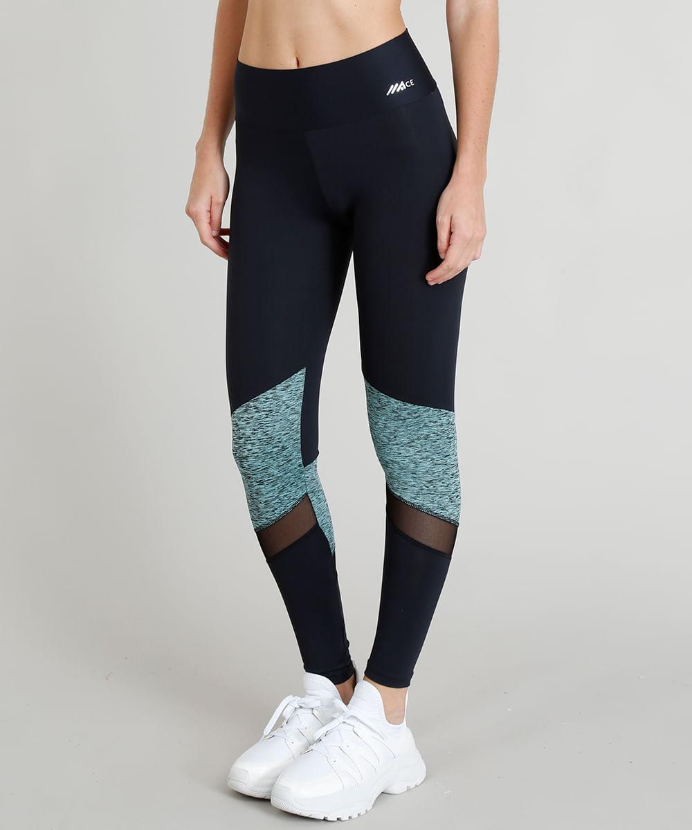 d28e428d29 Calça Legging Feminina Esportiva Ace com Recortes Proteção UV50+ ...