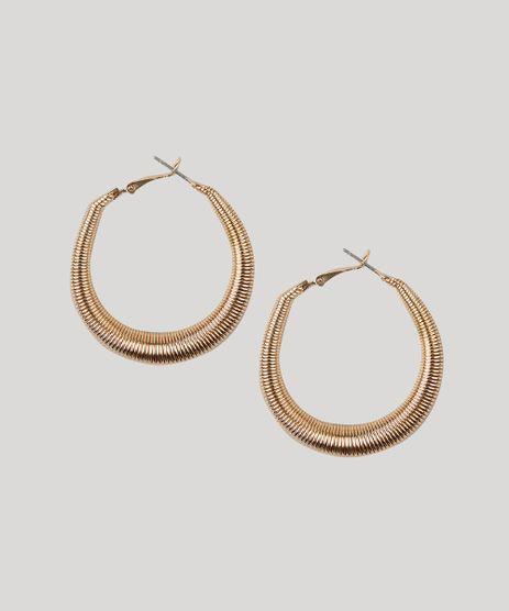 Brinco-Feminino-de-Argola-Texturizada-Dourado-9261504-Dourado_1