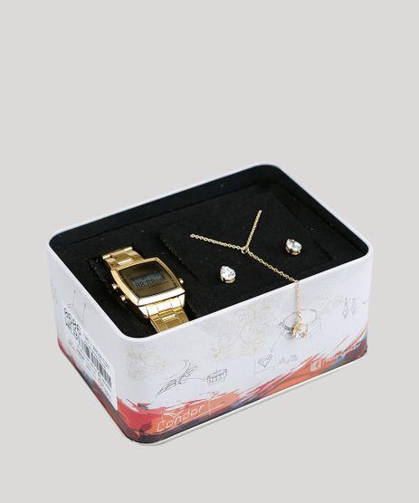 Kit-de-Relogio-Digital-Condor-Feminino---Colar---Brinco---COJH512ACK4D-Dourado-9396933-Dourado_1