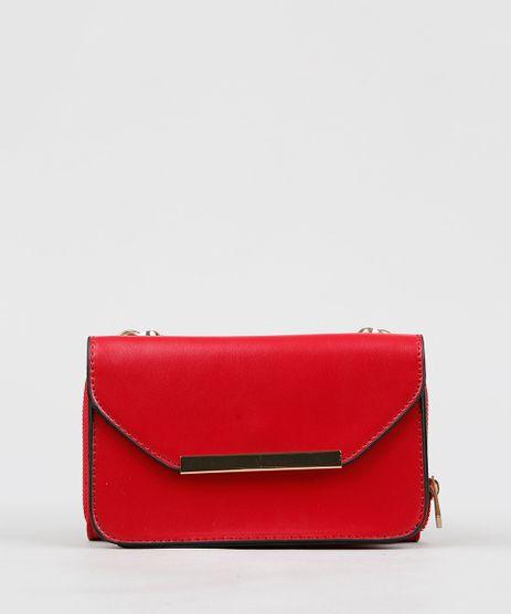 eb24d12209 Bolsa-Transversal---Carteira-Vermelha-8655539-Vermelho 1