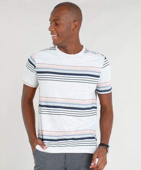 Camiseta-Masculina-Listrada-Manga-Curta-Gola-Careca-Cinza-Mescla-Claro-9356243-Cinza_Mescla_Claro_1