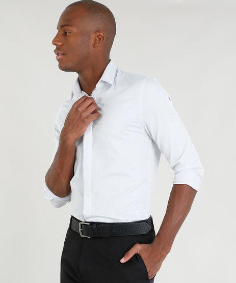 Camisa-Masculina-Slim-Texturizada-Manga-Longa-Cinza-Claro-9249824-Cinza_Claro_1