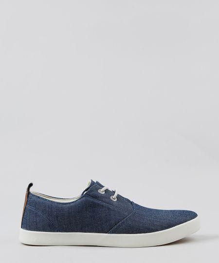 f73146b81b1 Tênis Plataforma Lu Fashion Sola alta Listrada Jeans Azul