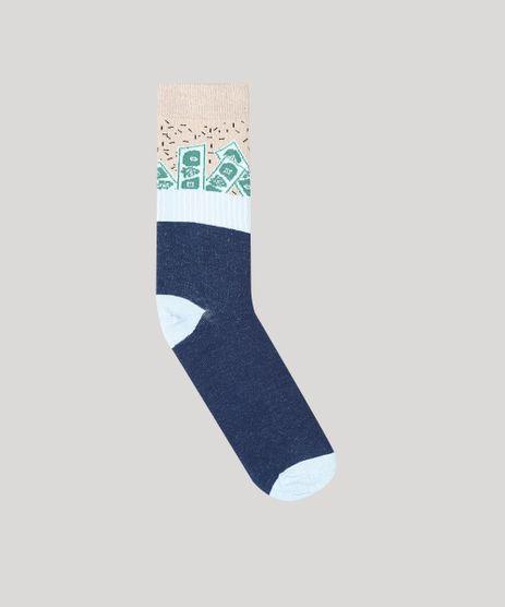 Meia-Masculina-Cano-Alto-Divertida-Estampada-Dinheiro-Azul-Marinho-9335888-Azul_Marinho_1