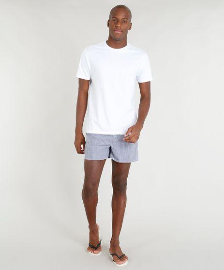 Pijama-Masculino-com-Camiseta-Manga-Curta---Samba-Cancao-Listrada-Branco-9321756-Branco_1