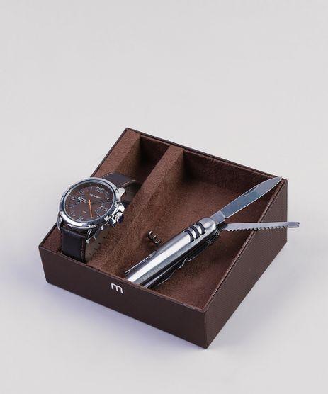 dd92c7ac324 Kit-de-Relogio-Analogico-Mondaine-Masculino---Canivete-