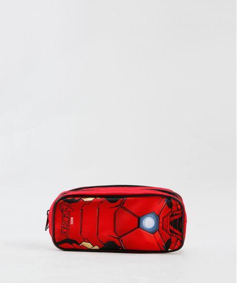 4d9dec1d76bc9 Estojo Escolar Infantil Homem de Ferro com Divisórias Vermelho - cea