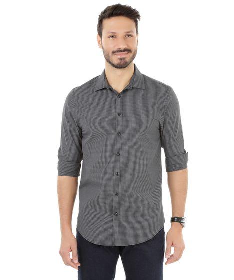 Camisa-Xadrez-Preta-8186397-Preto 1 ... 8a649b1c443