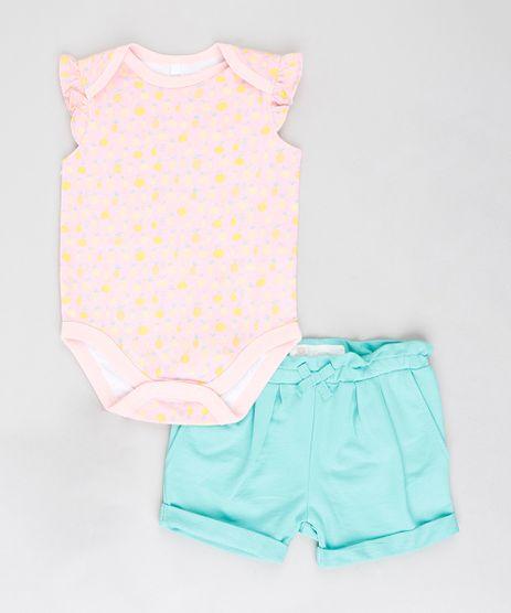 Conjunto-Infantil-de-Body-Estampado-de-Frutas-Rose---Short-em-Moletom-com-Laco-Verde-Claro-9201684-Verde_Claro_1