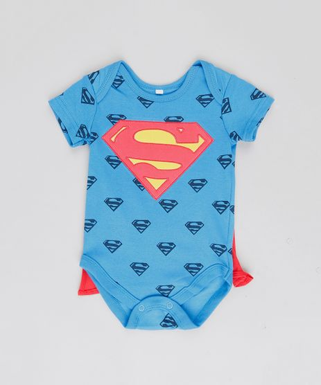 Body-Infantil-Super-Homem-Estampado-com-Capa-Removivel-Manga-Curta-Gola-Careca-Azul-Royal-9188426-Azul_Royal_1