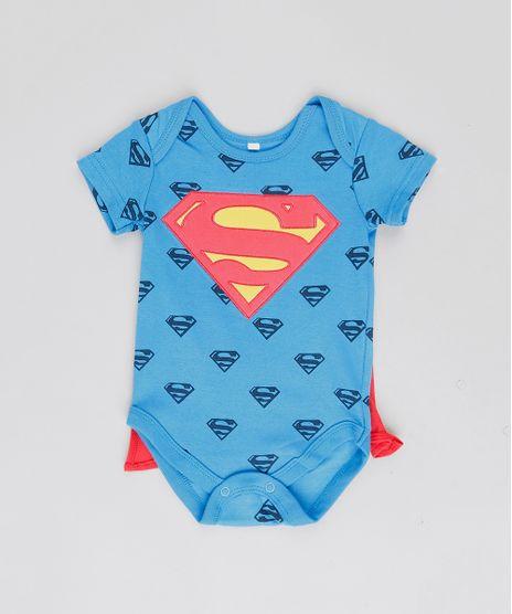 Body-Infantil-Super-Homem-Estampado-com-Capa-Removivel-Manga-Curta-Gola-Careca-Azul-Royal-9188426-Azul_Royal_1