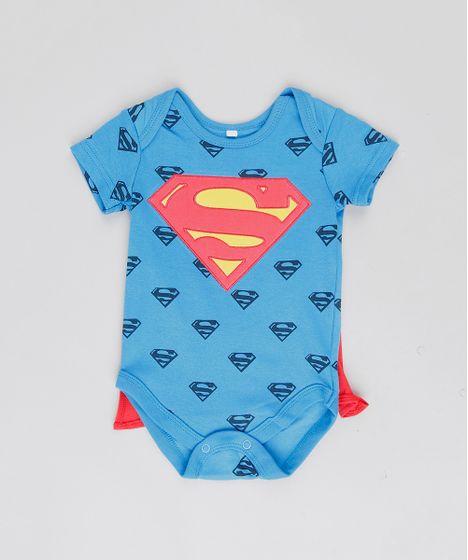 92407a1d2 Body Infantil Super Homem Estampado com Capa Removível Manga Curta ...
