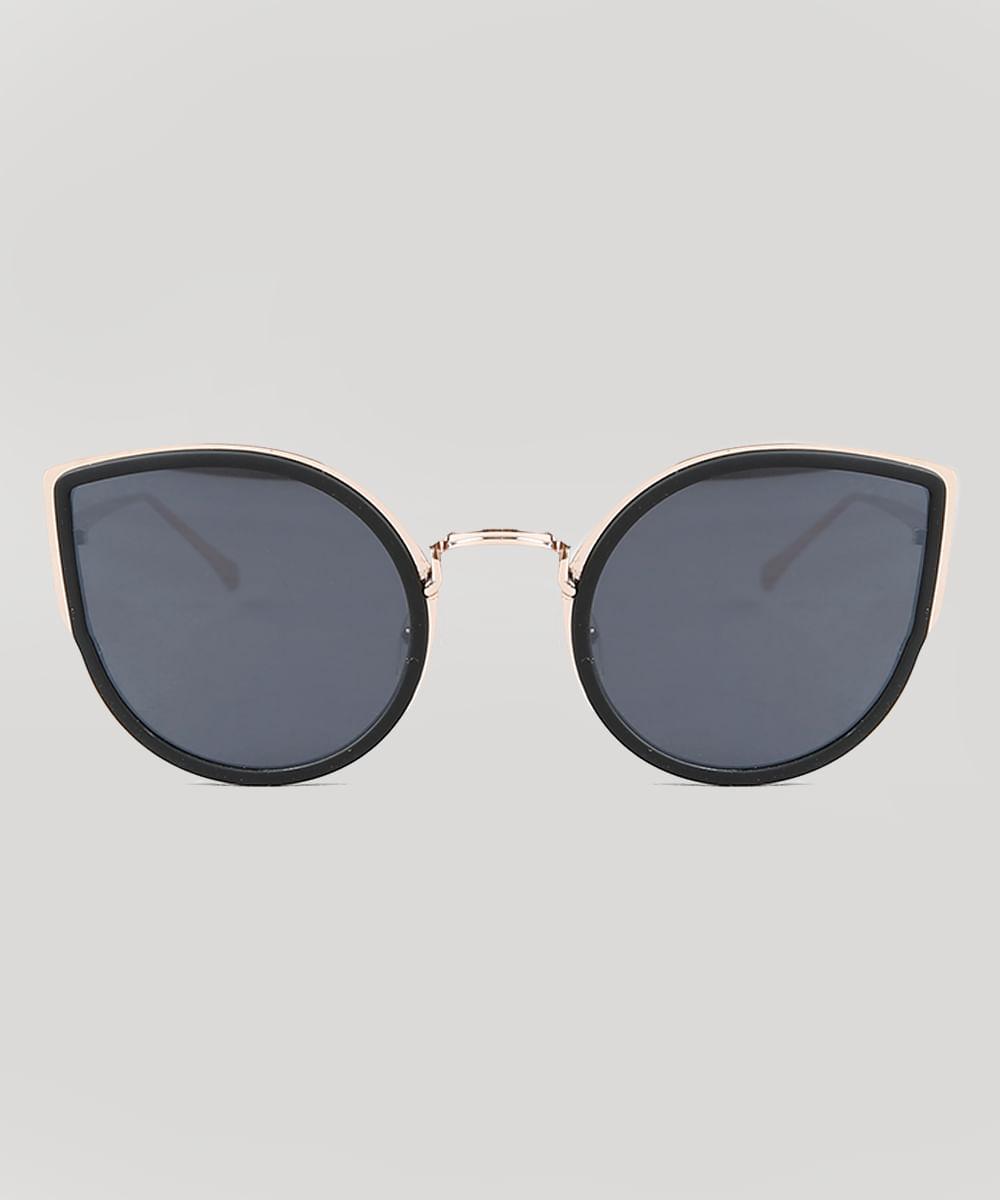 b09c220ca ... Oculos-de-Sol-Gatinho-Feminino-Oneself-Dourado-9435391-