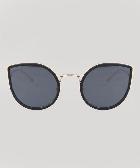 a7c6d20a4 Óculos de Sol Gatinho Feminino Oneself Dourado - cea