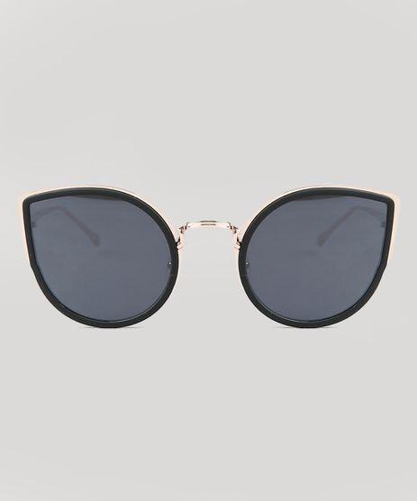 a5c3888fb20c4 Oculos-de-Sol-Gatinho-Feminino-Oneself-Dourado-9435391-