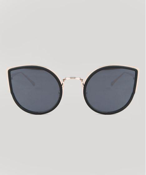 9d8eafc7c Oculos-de-Sol-Gatinho-Feminino-Oneself-Dourado-9435391- ...