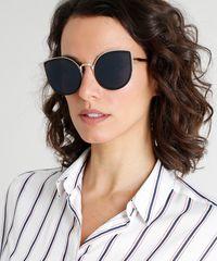 Óculos de Sol Gatinho Feminino Oneself Dourado - ceacollections 931ce0a2b9