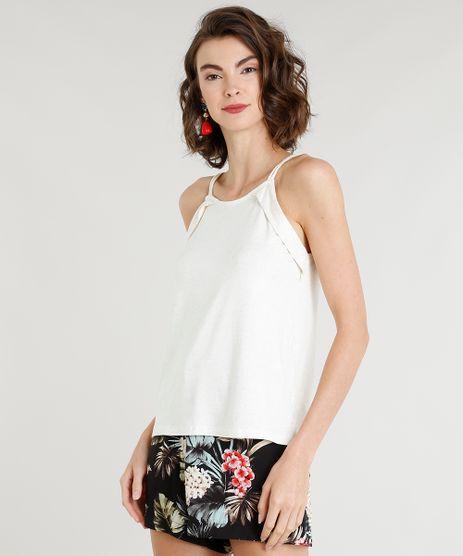 Regata-Feminina-com-Linho-Alcas-Finas-em-Corda-Decote-Redondo-Off-White-9350857-Off_White_1