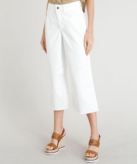 Calca-de-Sarja-Pantacourt-Feminina-com-Cintura-Alta-Barra-Desfiada-Off-White-9381177-Off_White_1