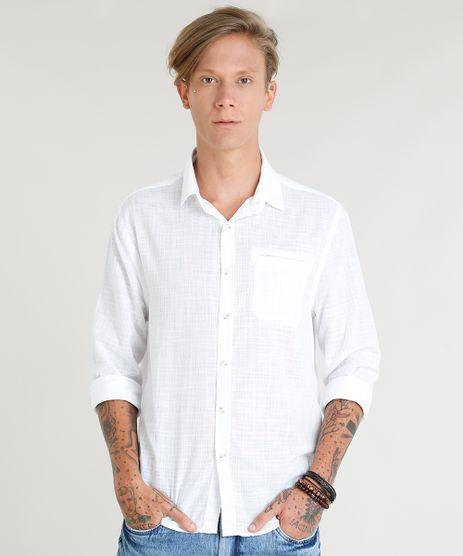 Camisa-Masculina-com-Bolso-Manga-Longa-Branca-9350187-Branco_1
