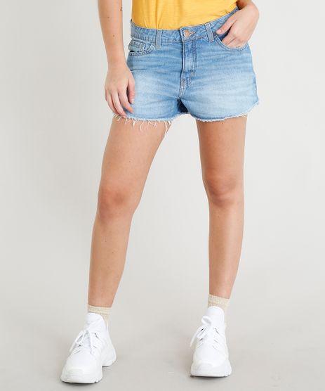 Short-Jeans-Feminino-Boy-com-Barra-Desfiada-Azul-Claro-9365617-Azul_Claro_1