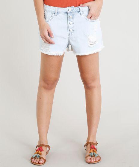 Short-Jeans-Feminino-Boy-Destroyed-com-Botoes-Azul-Claro-9346372-Azul_Claro_1