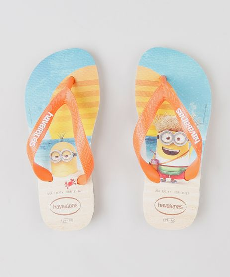 Chinelo-Havaianas-Infantil-Minions-Bege-9351605-Bege_1