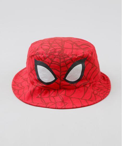 Chapeu-Infantil-Homem-Aranha-Estampado-Vermelho-9293178-Vermelho 1 ... 9c52c4ebd77
