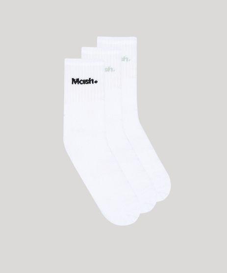 Kit-de-3-Meias-Masculinas-Mash-Cano-Medio-Branco-9376848-Branco_1