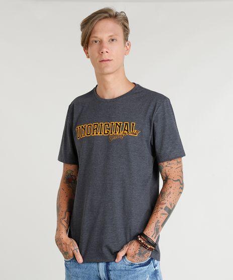 Camiseta-Masculina--Unoringinal-California--Manga-Curta-Gola-Careca-Cinza-Mescla-Escuro-9435925-Cinza_Mescla_Escuro_1