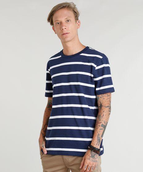 Camiseta-Masculina-Listrada-Manga-Curta-Gola-Careca-Azul-Marinho-9349994-Azul_Marinho_1