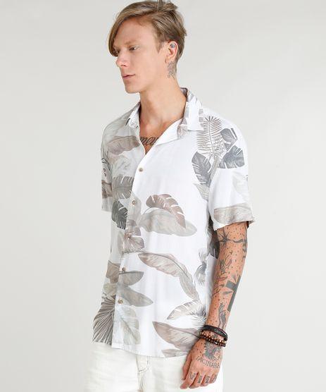 Camisa-Masculina-Estampada-de-Folhagens-Manga-Curta-Off-White-9350190-Off_White_1