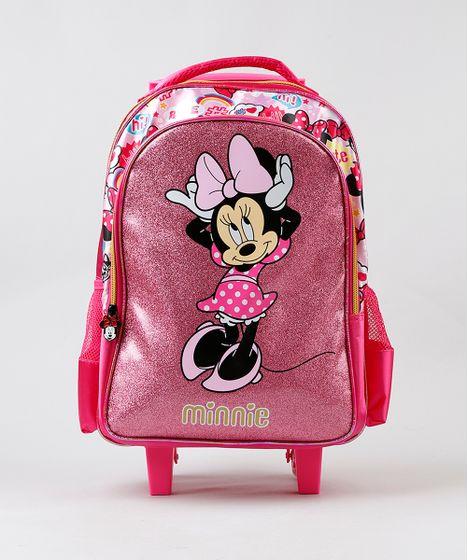 1d6e7a370 Mochila-Escolar-Infantil-com-Rodinhas-Minnie-Pink-9235959- ...