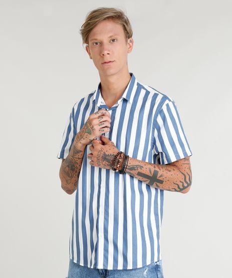 Camisa-Masculina-Listrada-Manga-Curta-Branca-9348259-Branco_1