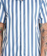 13903e9d7e ... Camisa-Masculina-Listrada-Manga-Curta-Branca-9348259-Branco 1