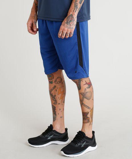 Bermuda-Masculina-Esportiva-de-Treino-Ace-com-Recorte-Lateral-Azul-Escuro-9268282-Azul_Escuro_1