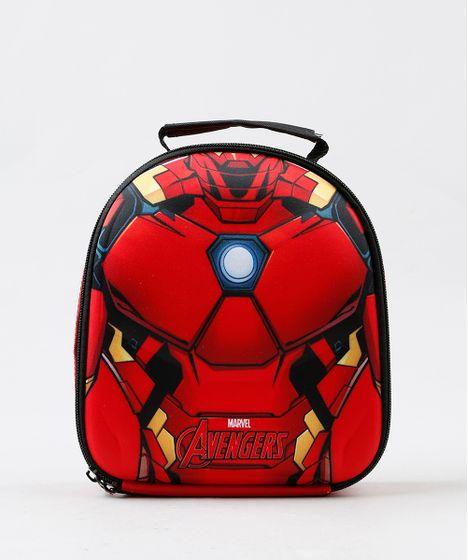 6b29fbe84be8a Lancheira Térmica Escolar Infantil Homem de Ferro Vermelha - cea