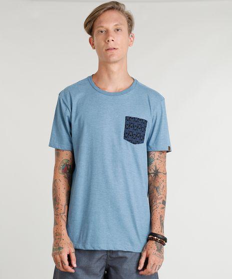 Camiseta-Masculina-com-Bolso-Estampado-de-Pranchas-Manga-Curta-Gola-Careca-Azul-9381089-Azul_1