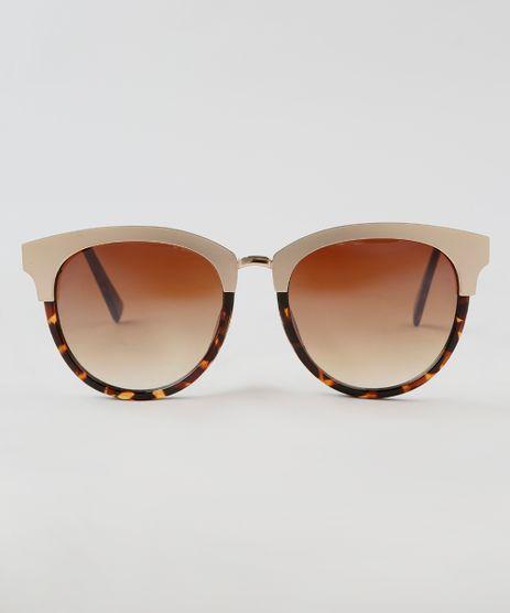 Oculos-de-Sol-Redondo-Feminino-Oneself-Tartaruga-9464739- 6a4f562c0f